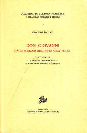 copertina di Don Giovanni dagli scenari dell'arte alla «Foire»