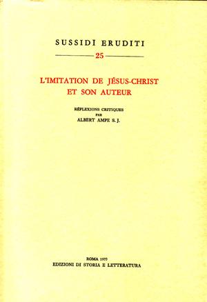 copertina di L'imitation de Jésus-Christ et son auteur