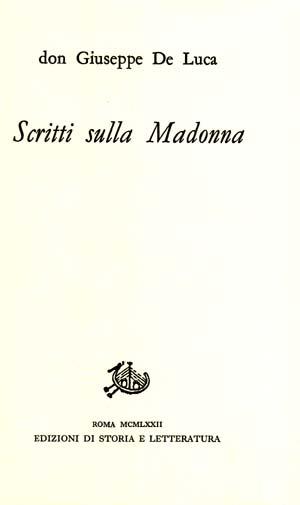 copertina di Scritti sulla Madonna