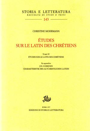 copertina di Études sur le latin des chrétiens. IV