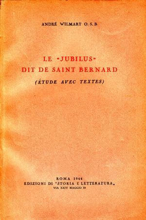 copertina di Le «Jubilus» dit de saint Bernard