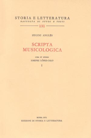 copertina di Scripta musicologica