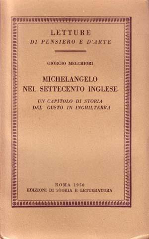 copertina di Michelangelo nel Settecento inglese