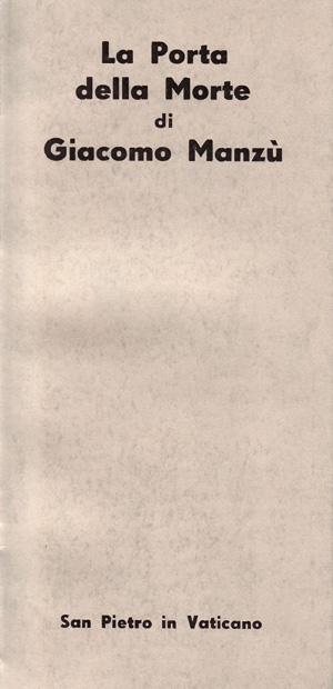 copertina di «La Porta della morte» di Giacomo Manzù