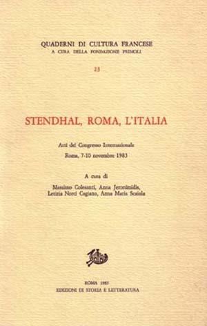 copertina di Stendhal, Roma, l'Italia