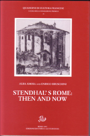 copertina di Stendhal's Rome: Then and Now
