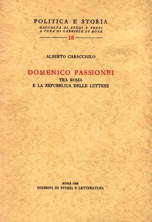 copertina di Domenico Passionei tra Roma e la repubblica delle lettere