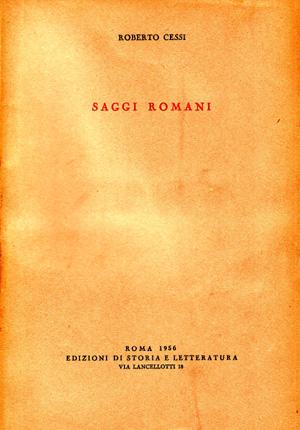 copertina di Saggi romani