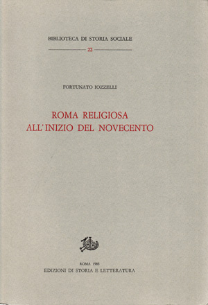 copertina di Roma religiosa all'inizio del Novecento