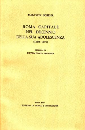 copertina di Roma capitale nel decennio della sua adolescenza (1880-1890)