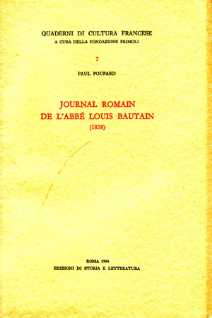 copertina di Journal romain de l'Abbé Louis Bautain (1838)