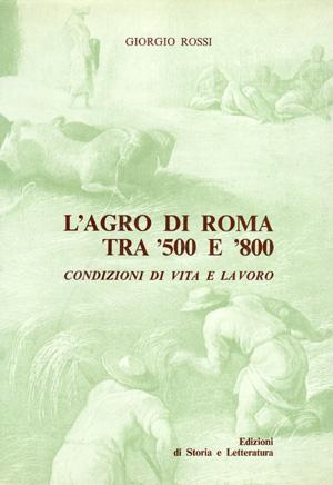 copertina di L'agro di Roma tra '500 e '800
