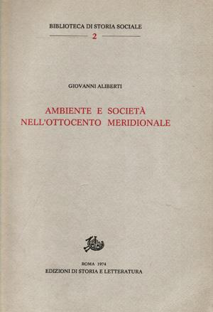 copertina di Ambiente e società nell'Ottocento meridionale