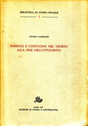 copertina di Parroci e contadini nel Veneto alla fine dell'Ottocento