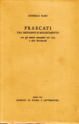 copertina di Frascati tra medioevo e rinascimento