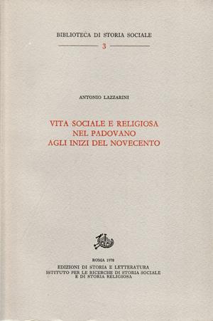 copertina di Vita sociale e religiosa nel padovano agli inizi del Novecento