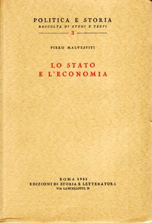 copertina di Lo Stato e l'economia