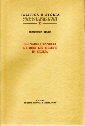 copertina di Bernardo Tanucci e i beni dei Gesuiti in Sicilia
