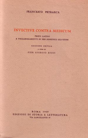 copertina di Invective contra medicum