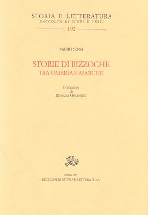 copertina di Storie di bizzoche tra Umbria e Marche