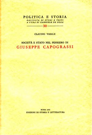copertina di Società e Stato nel pensiero di Giuseppe Capograssi