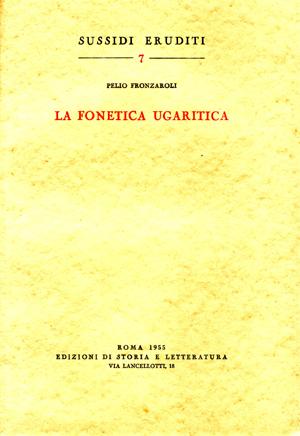 copertina di La fonetica ugaritica
