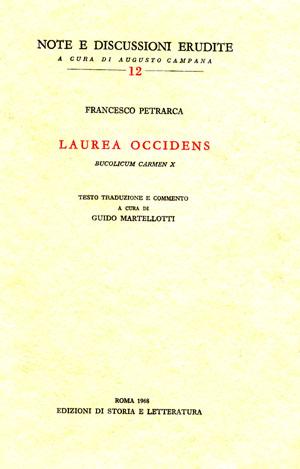 copertina di Laurea occidens