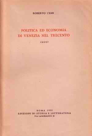copertina di Politica ed economia di Venezia nel Trecento