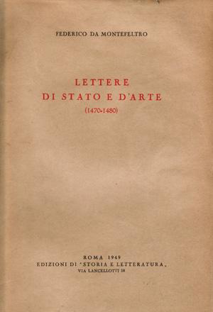 copertina di Lettere di stato e d'arte (1470-1480)