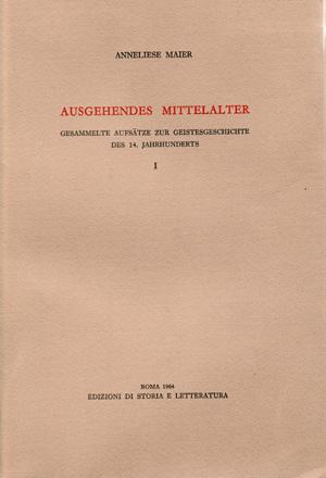 copertina di Ausgehendes Mittelalter. I