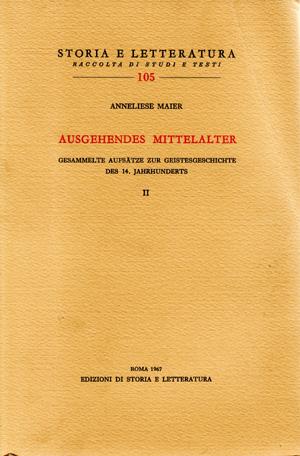 copertina di Ausgehendes Mittelalter. II