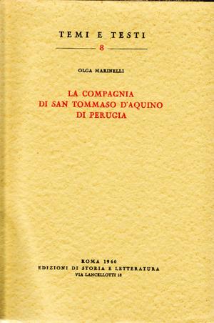 copertina di La Compagnia di san Tommaso d'Aquino di Perugia