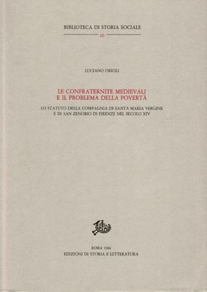 copertina di Le confraternite medievali e il problema della povertà