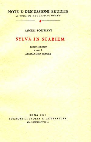 copertina di Sylva in scabiem