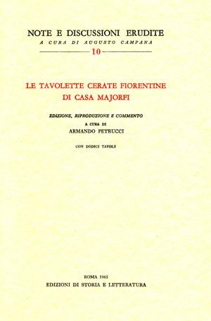 copertina di Le tavolette cerate fiorentine di casa Majorfi