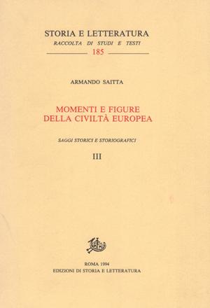 copertina di Momenti e figure della civiltà europea, voll. III-IV