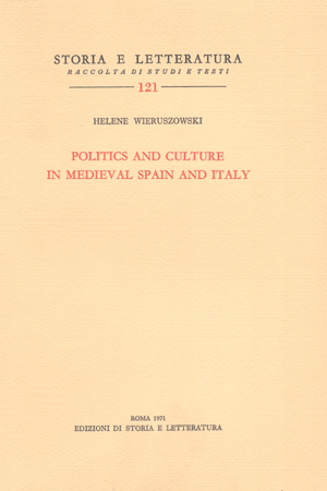 copertina di Politics and culture in medieval Spain and Italy