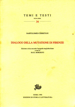 copertina di Dialogo della mutazione di Firenze