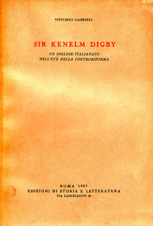 copertina di Sir Kenelm Digby