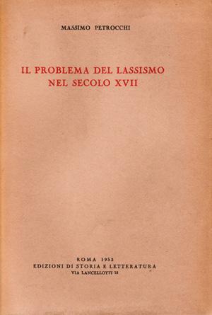 copertina di Il problema del lassismo nel secolo XVII