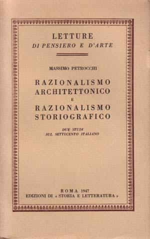 copertina di Razionalismo architettonico e razionalismo storiografico