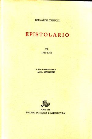 copertina di Epistolario. IX