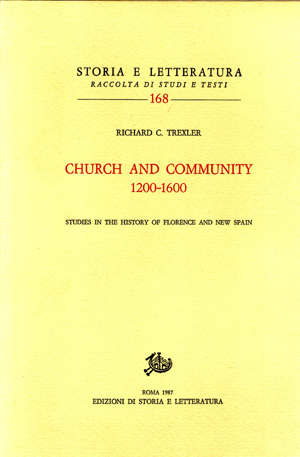 copertina di Church and Community (1200-1600)