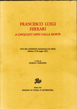 copertina di Francesco Luigi Ferrari, a cinquant'anni dalla morte