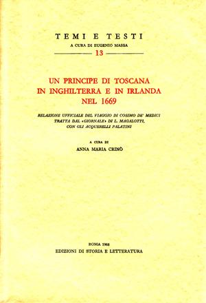 copertina di Un principe di Toscana in Inghilterra e in Irlanda nel 1669