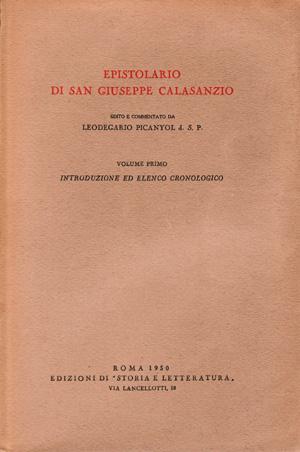 copertina di Epistolario di san Giuseppe Calasanzio. I