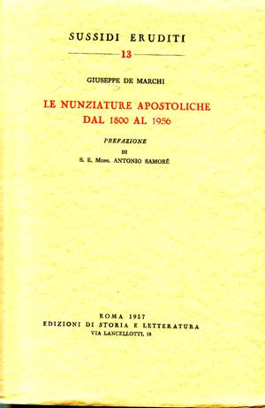 copertina di Le Nunziature Apostoliche dal 1800 al 1956