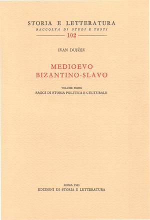copertina di Medioevo bizantino-slavo. I