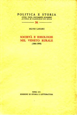 copertina di Società e ideologie nel Veneto rurale (1866-1898)