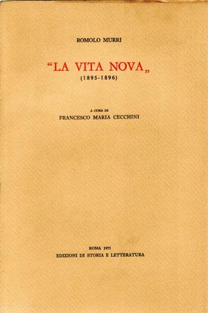 copertina di «La Vita Nova»